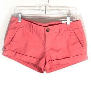 NWT American Eagle Coral Cuffed Short Shorts